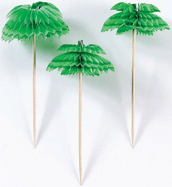 Palm Tree Honeycomb Picks